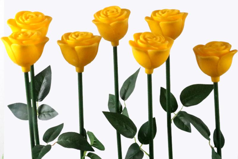 塑料玫瑰花灯