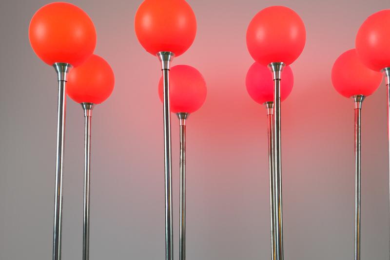 7cm不锈钢圆球灯带铝件 红色