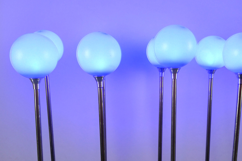 7cm不锈钢圆球灯带铝件 蓝色