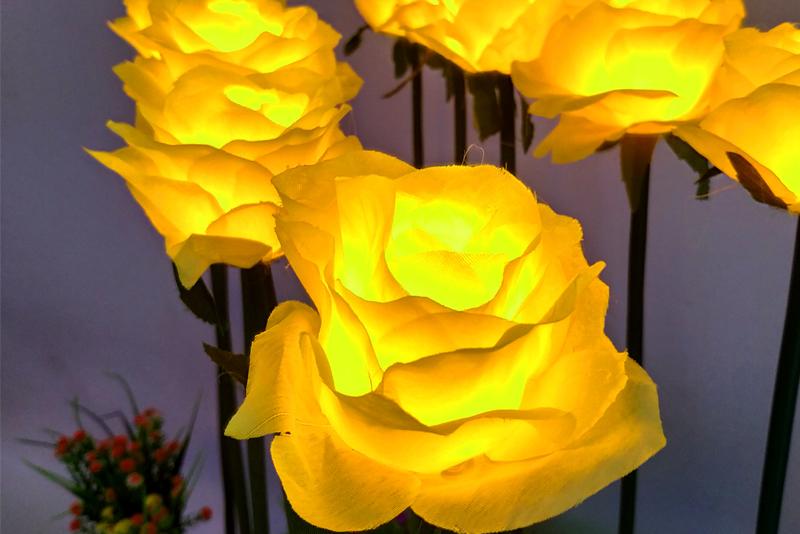 布绢玫瑰花灯不带叶子