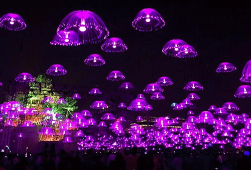 led光纤水母灯