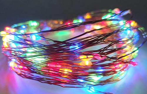 LED彩色铜线灯串10米100灯