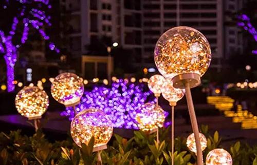 LED铜线圆球灯15cm