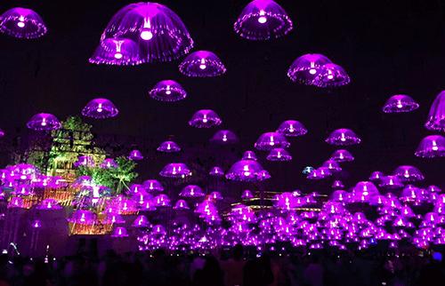 LED网红光纤水母灯