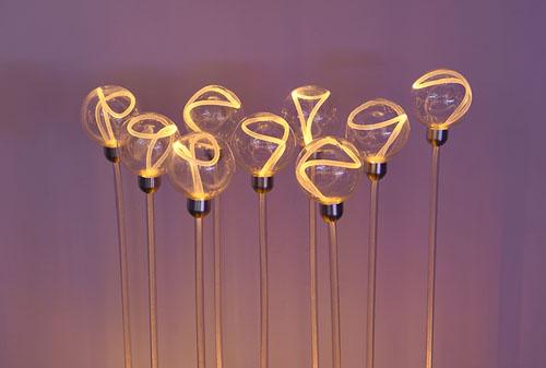 LED10CM侧光纤透明球