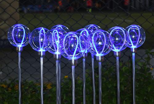 10CM侧光纤透明球-蓝色