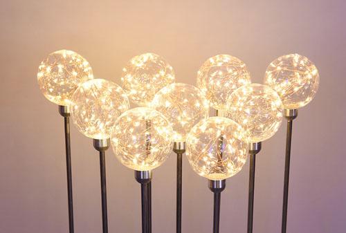 10CM铜线灯透明球