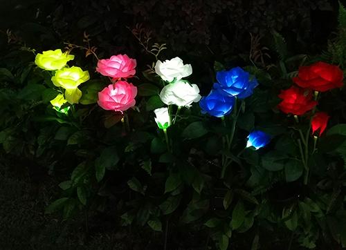 led太阳能玫瑰花灯