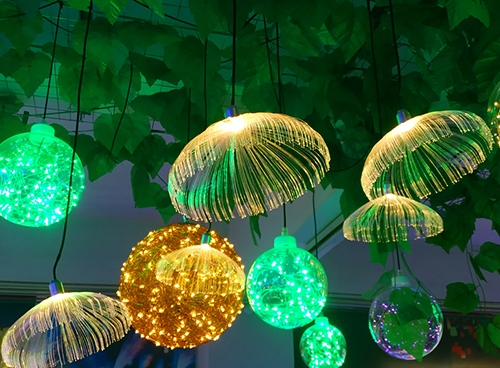 led光纤水母吊灯