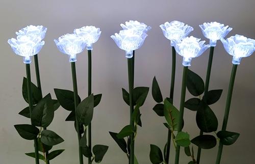 浙江LED白色亚克力玫瑰花