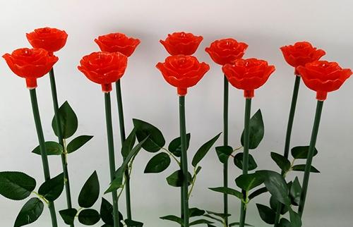 浙江LED红色亚克力玫瑰花