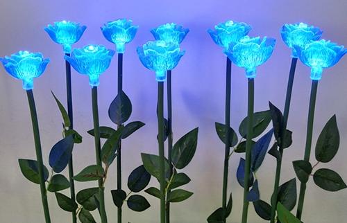 浙江LED蓝色亚克力玫瑰花