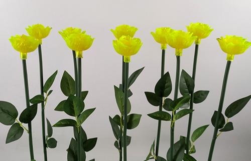 LED黄色亚克力玫瑰花