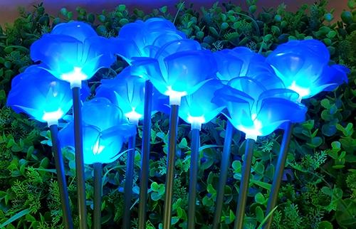 浙江LED蓝色塘胶玫瑰花