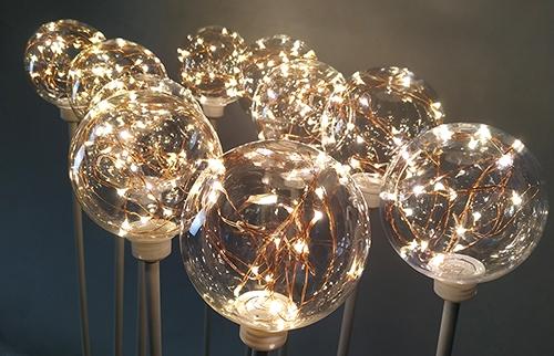 广东LED铜线圆球灯10cm