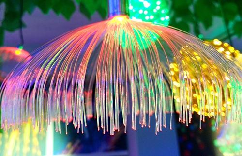LED网络光纤小水母灯