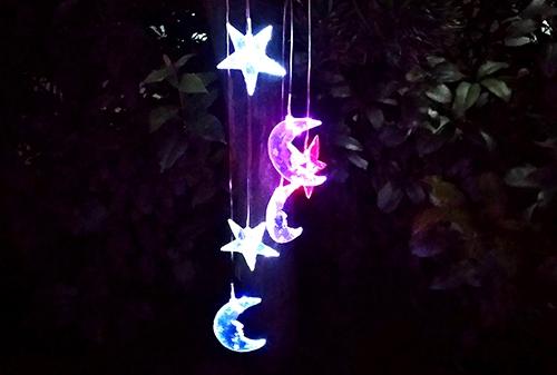 陕西LED太阳能星月风铃灯