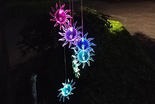 陕西LED太阳能风铃太阳灯