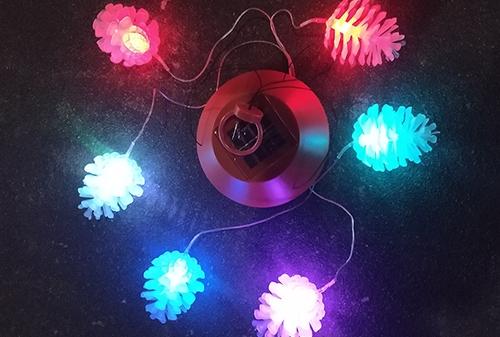 浙江LED太阳能松子风铃灯