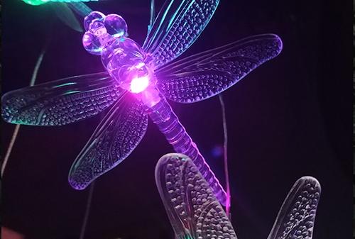 LED太阳能蜻蜓风铃灯