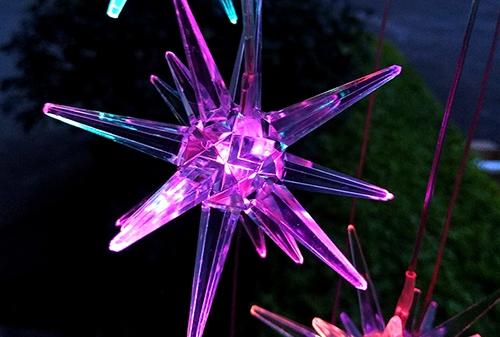 陕西LED太阳能爆炸球风铃灯
