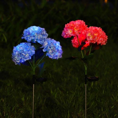 太阳能绣球花